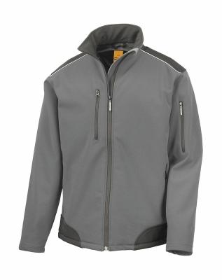 Softshell Arbeitsjacke bis Gr.4XL / Result R124X M Grey/Black