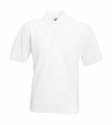 Herren Poloshirt Mischgewebe bis Gr.5XL / Fruit of the Loom 63-402-0 S White
