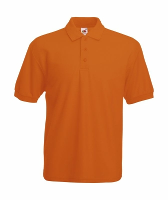 Herren Poloshirt Mischgewebe bis Gr.5XL / Fruit of the Loom 63-402-0 S Orange