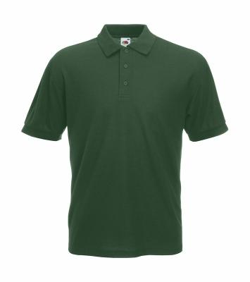 Herren Poloshirt Mischgewebe bis Gr.5XL / Fruit of the Loom 63-402-0 S Bottle Green
