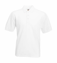 Herren Poloshirt Mischgewebe bis Gr.5XL / Fruit of the Loom 63-402-0 M White