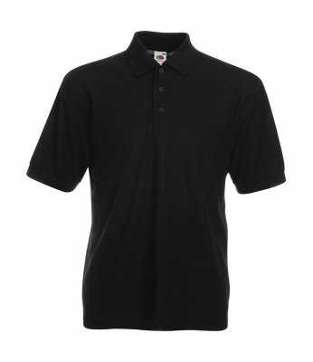 Herren Poloshirt Mischgewebe bis Gr.5XL / Fruit of the Loom 63-402-0 M Black
