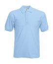 Herren Poloshirt Mischgewebe bis Gr.5XL / Fruit of the Loom 63-402-0 M Sky Blue
