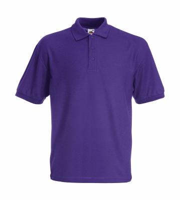 Herren Poloshirt Mischgewebe bis Gr.5XL / Fruit of the Loom 63-402-0 M Purple