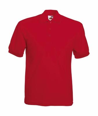 Herren Poloshirt Mischgewebe bis Gr.5XL / Fruit of the Loom 63-402-0 L Red