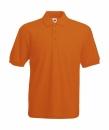 Herren Poloshirt Mischgewebe bis Gr.5XL / Fruit of the Loom 63-402-0 L Orange