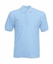 Herren Poloshirt Mischgewebe bis Gr.5XL / Fruit of the Loom 63-402-0 XL Sky Blue