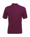 Herren Poloshirt Mischgewebe bis Gr.5XL / Fruit of the Loom 63-402-0 2XL Burgundy