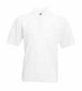 Herren Poloshirt Mischgewebe bis Gr.5XL / Fruit of the Loom 63-402-0 5XL White
