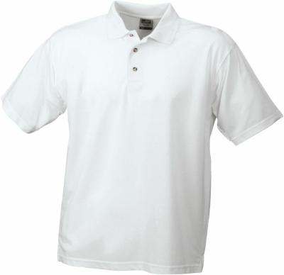 Worker Poloshirt strapazierfähig bis Gr.3XL / James Nicholson JN025 S White