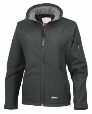 Damen Soft Shell Jacke/Result R122F/ S Black