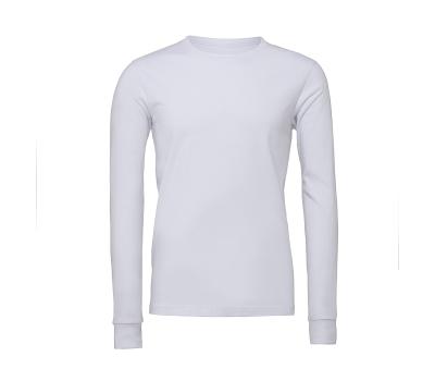Unisex Jersey Long Sleeve Tee bis Gr.2XL / Bella+Canvas 3501 XS White