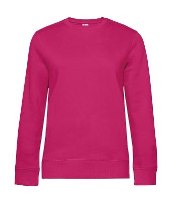 Damen Sweater QUEEN Crew Neck bis Gr.3XL / B&C WW01Q 2XL Magenta Pink