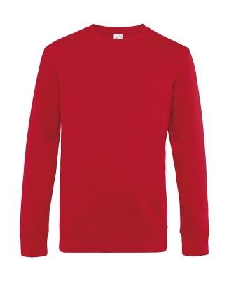 Herren Sweatshirt KING Crew Neck bis Gr.4XL / B&C WU01K 3XL Red