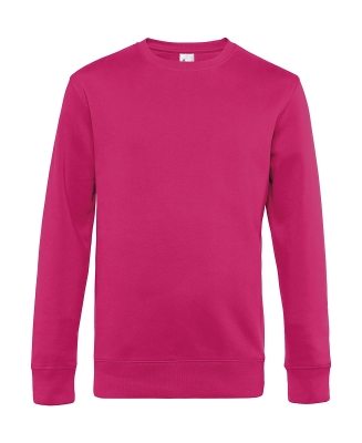 Herren Sweatshirt KING Crew Neck bis Gr.4XL / B&C WU01K 3XL Magenta Pink