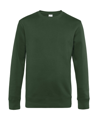 Herren Sweatshirt KING Crew Neck bis Gr.4XL / B&C WU01K 3XL Bottle Green