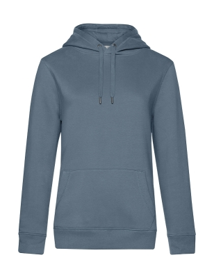 Damen QUEEN Hooded KING bis Gr.3XL / B&C WW02Q S Nordic Blue