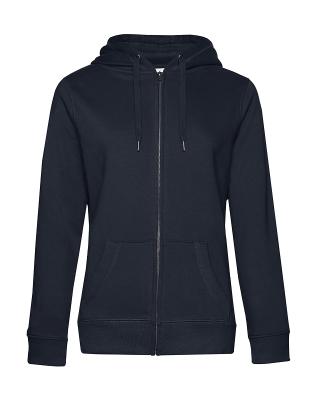 Damen KING Zipped Hooded Sweatjacke bis Gr.3XL / B&C WW03Q 2XL Navy Blue