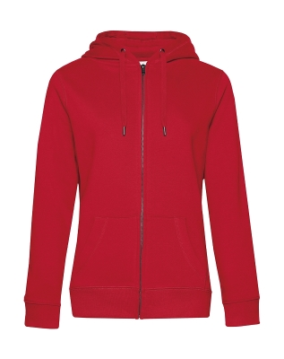Damen KING Zipped Hooded Sweatjacke bis Gr.3XL / B&C WW03Q 2XL Red