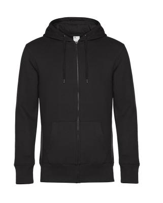 Herren KING Zipped Hooded Sweatjacke bis Gr.4XL / B&C WU03K XS Black Pure
