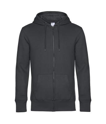 Herren KING Zipped Hooded Sweatjacke bis Gr.4XL / B&C WU03K XS Asphalt