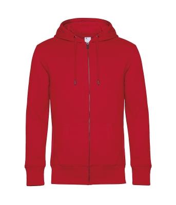 Herren KING Zipped Hooded Sweatjacke bis Gr.4XL / B&C WU03K 2XL Red