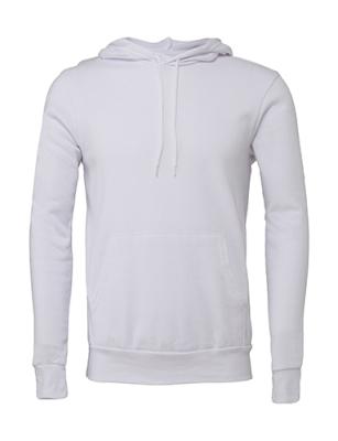Unisex Poly-Cotton Pullover Hoodie bis Gr.2XL / Bella 3719 2XL White