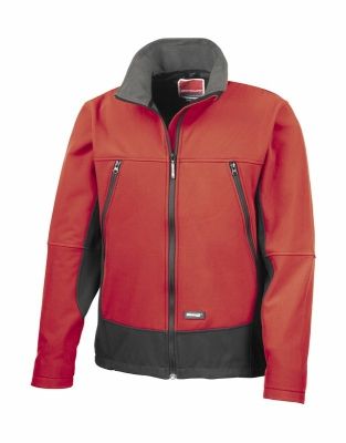 Herren Soft Shell Activity Jacke - Softshelljacke / Result R120 L Red/Black