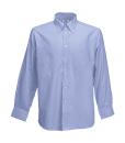 Herren Oxford LA Hemd / Fruit of the Loom 65-114-0 / L  (41-42) Oxford Blue