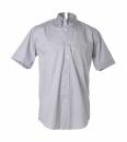 Herren Oxford Hemd KA / Kustom Kit KK109 / 16.5 Inch (42cm Halsumfang) Silver Grey