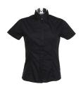 Damen Kurzarm Bluse / Kustom Kit KK736 / L Black