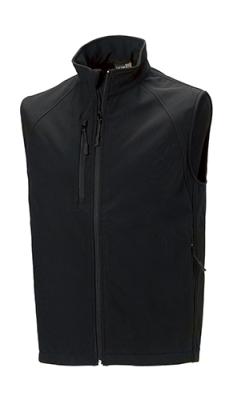 Herren Softshell Gilet Weste/Russell 141M/ XL Black