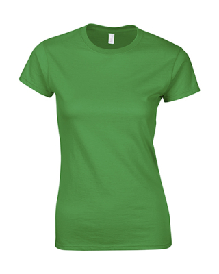Damen T-Shirt / Gildan 64000L / S Irish Green