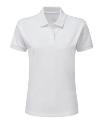Damen Polo Shirt / Ladies Cotton Polo / SG50F / S White
