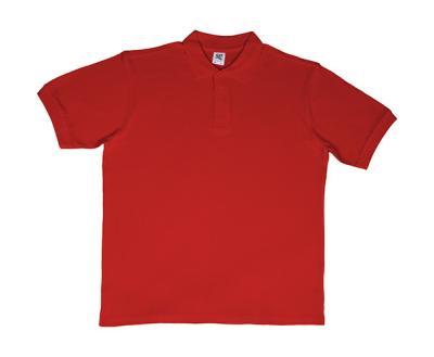 Herren Polo Shirt / Cotton Polo / SG50 / M Red