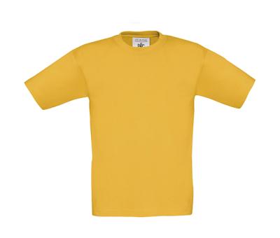 Kinder Shirt / B&C Exact 150 Kids tk300 / M/122-128cm/7-8Jahre Gold