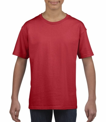 Kinder Ring Spun T-Shirt / Gildan 64000B / L/140/9-11Jahre Red