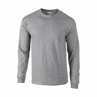Herren Langarm T-Shirt / Gildan 2400 / L Sport Grey