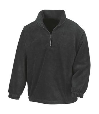 Damen, Herren 1/4 Zip Fleece Pullover - Result R33 M Black