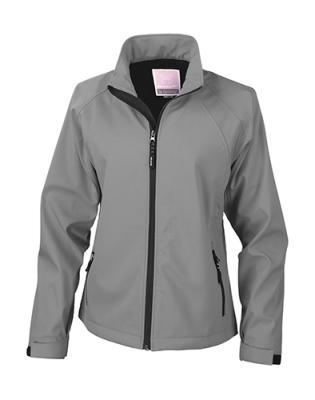 Damen Base Layer Soft Shell Jacke / Result R128F XS Silver Grey