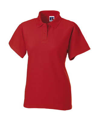 Damen Poloshirt / Russell Europe 539F L Classic Red