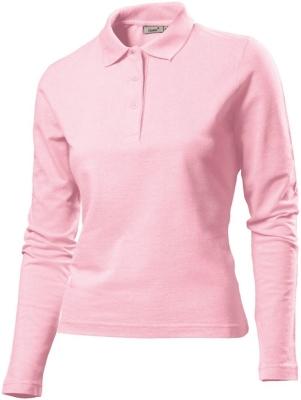 Damen Poloshirt LA / Gr.S, Navy / Hanes G139 L Light Pink