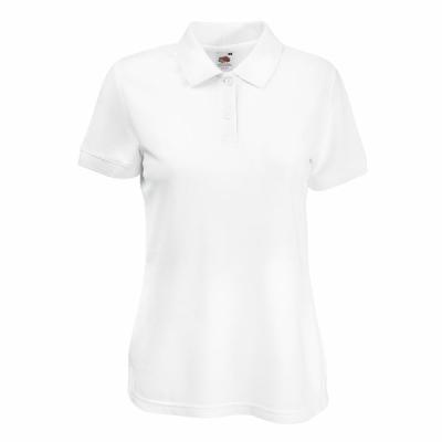 Damen Poloshirts / Fruit of the Loom 63-212 L White