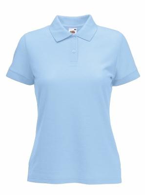 Damen Poloshirts / Fruit of the Loom 63-212 L Sky Blue