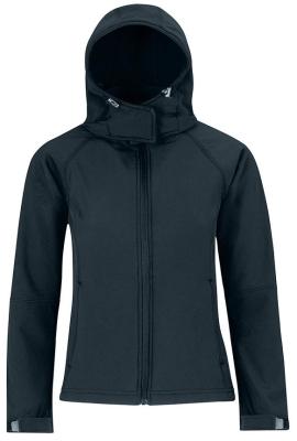 Damen Kapuzen Softshell Jacke / B&C Hooded Softshell Women XL Navy
