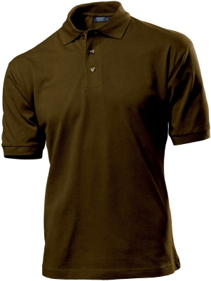 Herren Top Polo Shirt / Hanes G135 M Brown