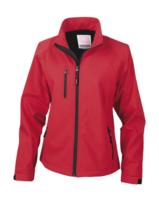 Damen Base Layer Soft Shell Jacke / Result R128F S Red