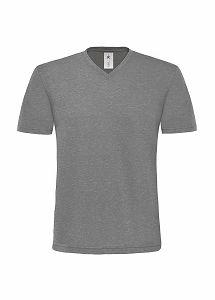 Herren Shirt V-Neck Deluxe / B&C Mick Deluxe TM185 2XL Deluxe Grey