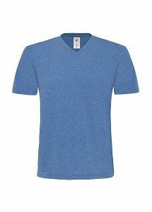 Herren Shirt V-Neck Deluxe / B&C Mick Deluxe TM185 2XL Deluxe Blue