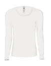 Damen Langarm-Shirt Ovale Neck / TW261 M White